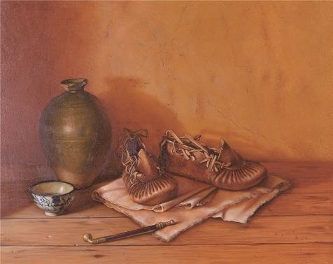 Oil painting 'Still Life with Shoes and Pot' printing on high quality polyster Canvas , 10x13 inch / 25x32 cm ,the best Garage artwork and Home gallery art and Gifts is this Imitations Art DecorativeCanvas Prints