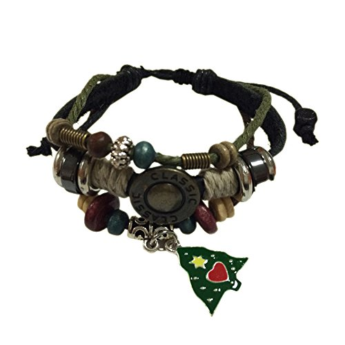 Christmas Tree Zen Handmade Bracelet Leather Bracelet Leather Wristband