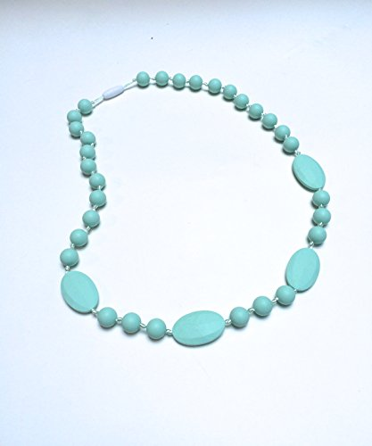 SillyMunkTM Silicone Teething Necklace Beaded (Mint)