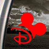DISNEY Red Decal MOUSEKETEER MAGIC KINGDOM Car Red Sticker