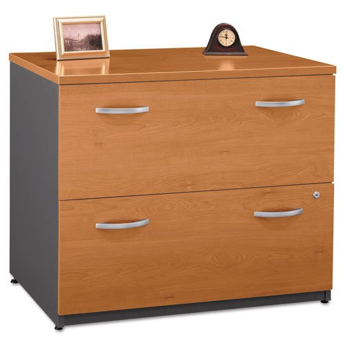 Bush - Series C Two-Drawer Lateral File (Assembled), Natural Cherry/Graphite Gray WC72454ASU (DMi EA (Bush Natural Cherry compare prices)