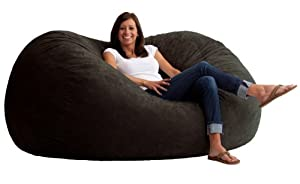 Comfort Research 6-Foot XL Fuf in Comfort Suede, Black Onyx