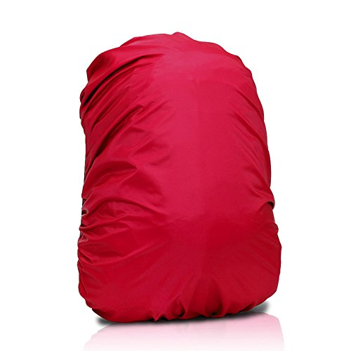 E-Prance Lightweight Durable Raincoat Rainproof Cover For 60 - 90L Backpack Sports Bag Color Red front-650307