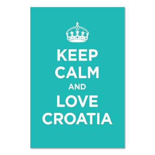art-print-poster-motivo-scritta-keep-calm-love-croazia-turchese-blueish-capitano-della-seconda-guerr