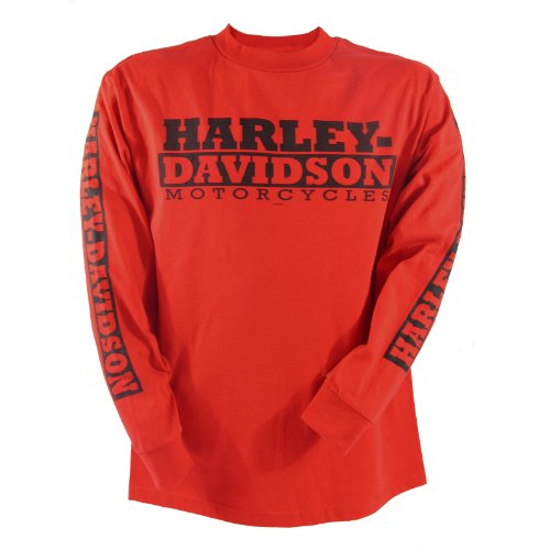 Harley-Davidson Kandahar Red Devil Long Sleeve T-Shirt Mens, XX-Large, Red