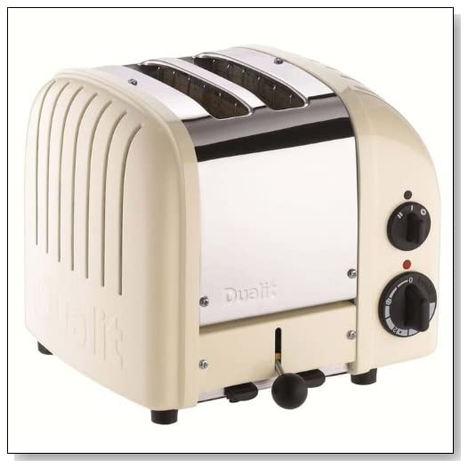 Dualit 2 Slice Classic Toaster Canvas White