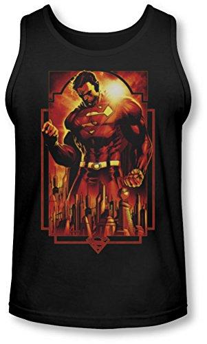 Superman Uomo Deco-Canottiera, motivo: Metropolis Nero  nero