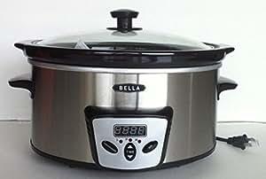 Bella 13601 Programmable Slow Cooker, 5 Qt