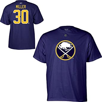 Reebok Buffalo Sabres Ryan Miller Youth Player Name & Number T-Shirt
