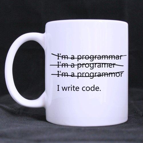Funny Wrong I'm a programmer I write code 11OZ/100% Ceramic Mug Custom Coffee/Tea White Cup Mug For Christmas Gift,Birtday Gift,New Year Gift