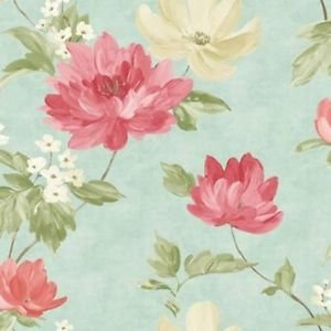 Renoir Teal/Coral Wallpaper from New A-Brend