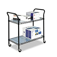 Safco Model Wire Utility Cart, Black (5337)