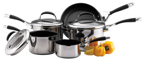 Circulon Steel Elite Cookware Saucepan Set, 5-Piece