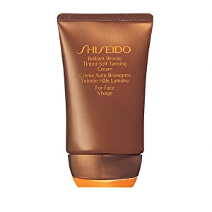 Shiseido Brilliant Bronze Tinted Self-Tanning Cream for Unisex, Medium Tan, 1.7 Ounce