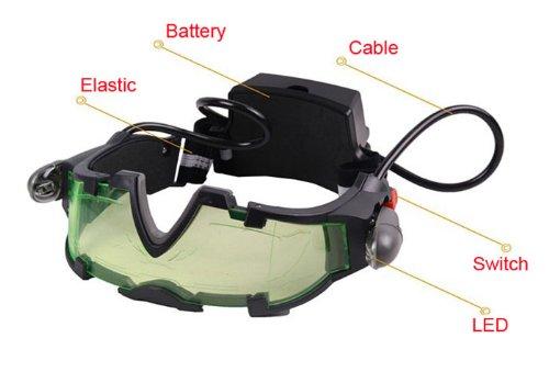 Meily(Tm) Adjustable Elastic Band Night Vision Goggles Glasses Eyeshield