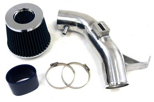 07-12 Nissan Altima 4Cyl 2.5L Except Hybrid Shortram Air Intake Kit Polish + Blue Filter & Hose front-489348