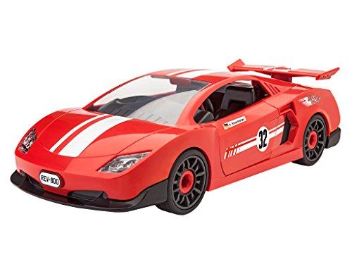 Revell-00800-Junior-Kit-Rennwagen-rot