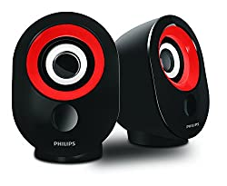 Philips SPA-502.0 speaker with USB Plug (Red)