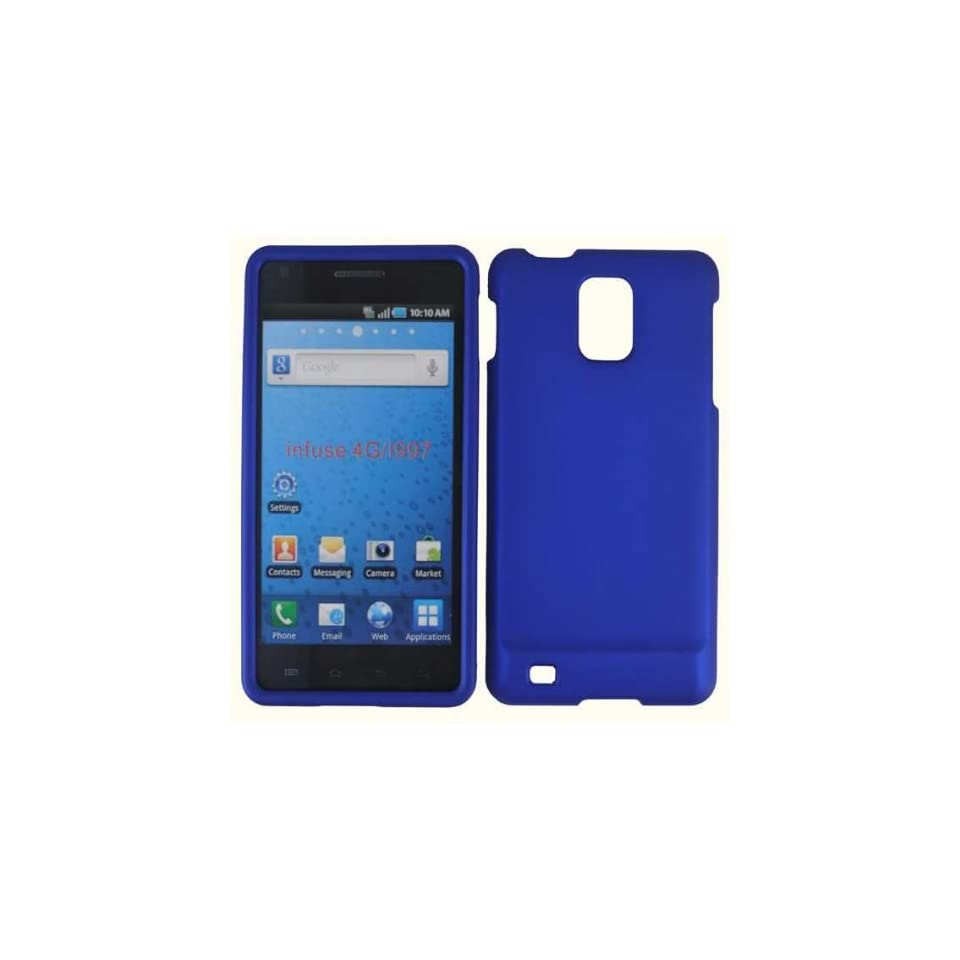 For At&t Samsung Infuse 4g I997 Accessory   Blue Hard Case Cover