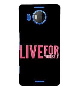 PrintVisa Attitude Quotes Design 3D Hard Polycarbonate Designer Back Case Cover for Nokia Lumia 950 XL