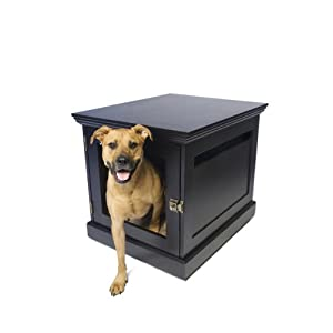 DenHaus TownHaus Indoor Dog House and End Table Espresso Medium