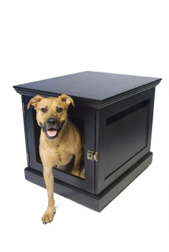 DenHaus TownHaus Indoor Dog House and End Table, Espresso, Medium