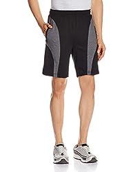 Jockey Men's Cotton Shorts (8901326123171_9411_Small_Black and Charcoal Melange)