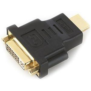 deleyCON HDMI zu DVI Adapter - DVI Buchse zu HDMI Stecker [ vergoldete Kontakte ]