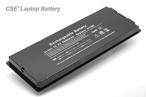 CSEXCEL® New Laptop Battery for Apple Macbook 13 inch Apple A1181 A1185 MA254 MA255 MA472 MA561 MA566 MA700 Series (Black) [6 cell 10.8V 5600mAh] - 12 Months Warranty