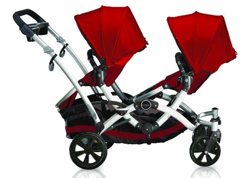 Contours Options Tandem Stroller, Ruby
