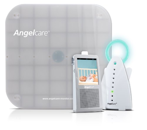 Angelcare 4 Piece Baby Video Sound and Movement Baby Monitor System Ac1100, Gray/White