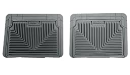 Husky Liners 52022 Semi-Custom Fit Heavy Duty Rubber Rear Floor Mat - Pack of 2, Grey