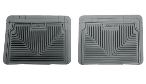 Husky Liners 52022 Semi-Custom Fit Heavy Duty Rubber Rear Floor Mat - Pack of 2, Grey (96 Camaro Floor Mats compare prices)