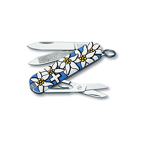 Victorinox Swiss Army Classic Edelweiss Pocket Knife 54721, Blue