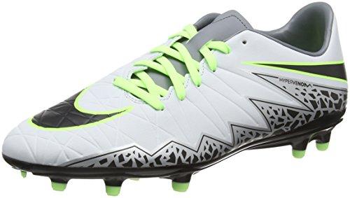 Nike Hypervenom Phelon Ii Fg, Scarpe da Calcio Uomo, Grigio (Pure Platinum/Black-Ghost Green), 45 EU
