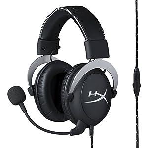 キングストン Kingston ゲーミングヘッドセット HyperX Cloud Silver HX-HSCL-SR/NA ブラック/シルバー オーディオコントロールボックス付属 2年保証