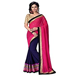 AV TRENDZ DESIGNER PRINTED & EMBROIDERED SAREE