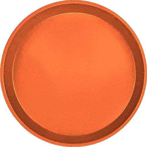 Serving Camtray, Round, 9'' Diameter, Fiberglass, Aluminum Reinforced Rim, Citrus Orange, Nsf (12 Pieces/Unit)