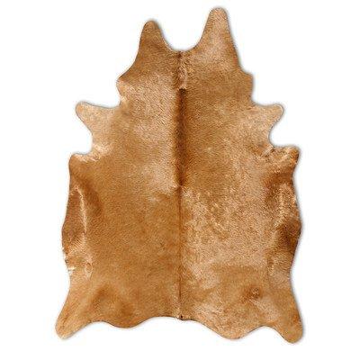 Natural Cowhide Camel Rug Rug Size: 6