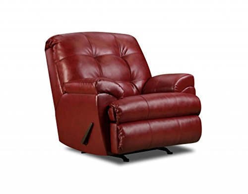 Simmons Upholstery 9569-19 Soho Cardinal Bonded Leather Rocker Recliner front-716292