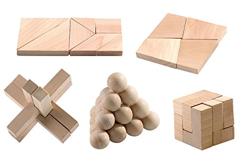 playtastic-geduldspiel-aus-holz-super-knobel-pack-5er-set
