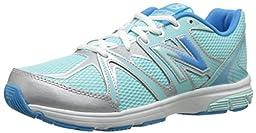 New Balance KJ697 Youth Lace Up Running Shoe (Little Kid/Big Kid), Blue/Silver, 6.5 M US Big Kid