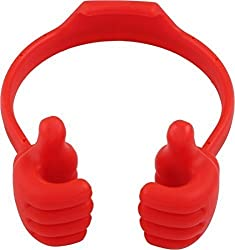 WireFox Thumbs Up Stand Holder For Tablet, Mobile & Gps Holder (Red) 1 Year Warranty