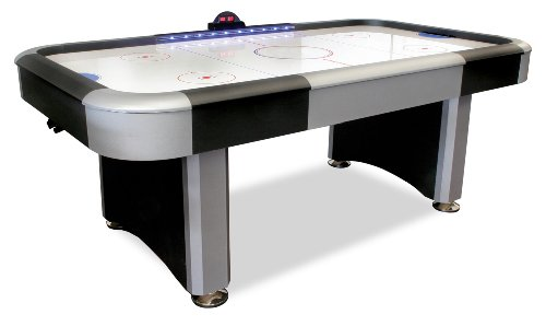 American Legend Interactive 7-Foot Lighted Rail Air Hockey Table
