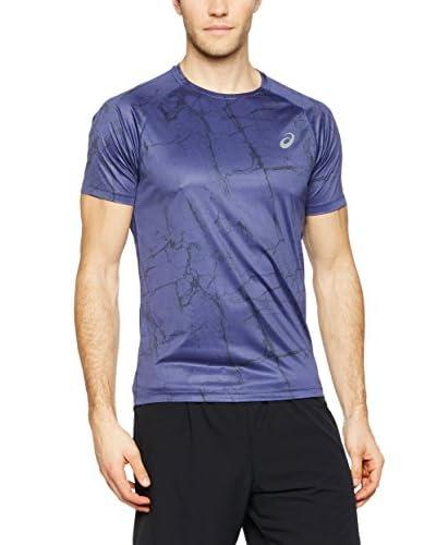 Asics T-Shirt Manica Corta Fujitrail Graphic Ss [Blu]