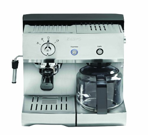 Krups Precise Tamp TM Combination Espresso and Coffee Machine (Silver)