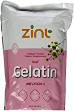 Zint 2Lb Pasture Raised Pure Beef Gelatin for Collagen Joint Health - Best Source of Protein - Unfla