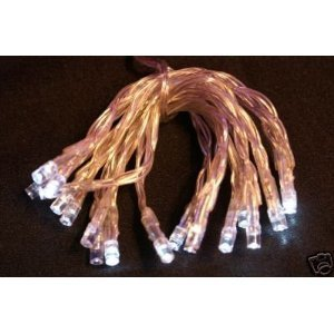 Battery Operated Fairy Lights, 20 Very Bright White Led, Clear Cable