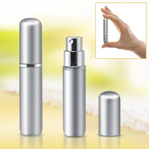5ml Silver Easy Fill Travel Perfume Spray Bottle