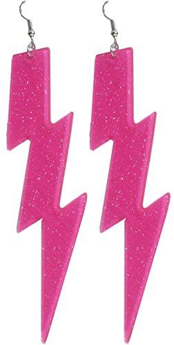 Neon Pink Lightning Bolt